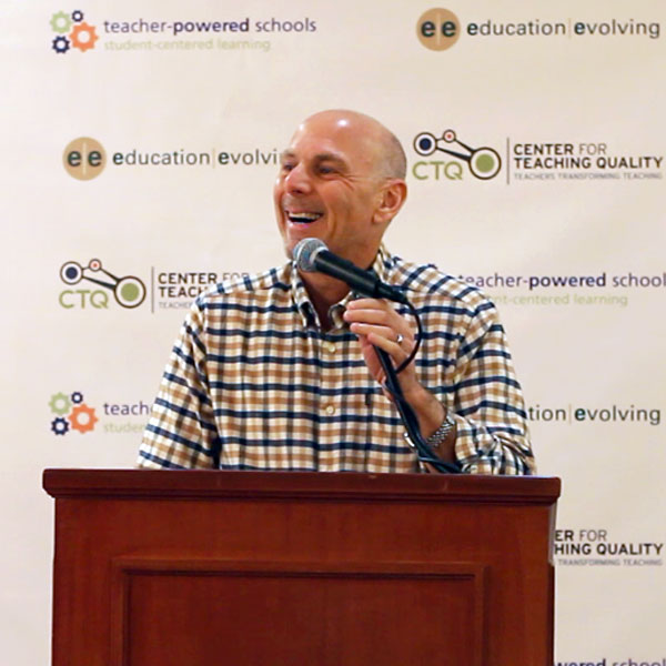 Barnett Berry speaks at the first national Teacher-powered conference